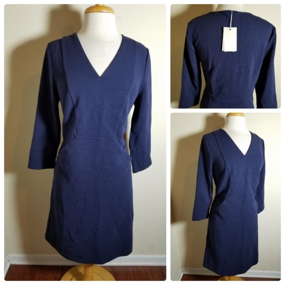 b78413d65a08 Boden Dresses | Nwt Navy Blue Vneck Jumper Dress Pockets | Poshmark